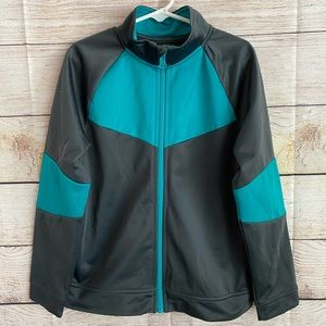 Athletic Zip Up Teal and Gray Kid's Jacket